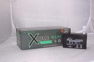 8 x Leoch XR-9.0FR Batteries - Fire Retardent